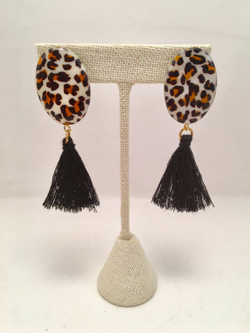 Stud Tassel Earrings