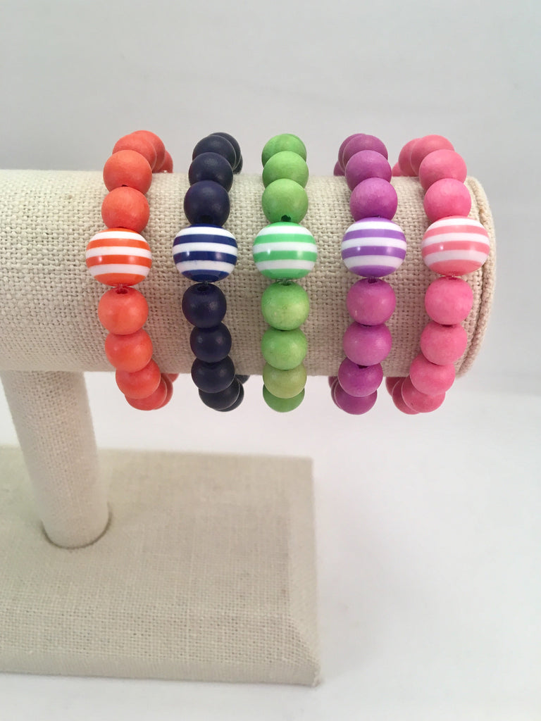 striped bead bracelet