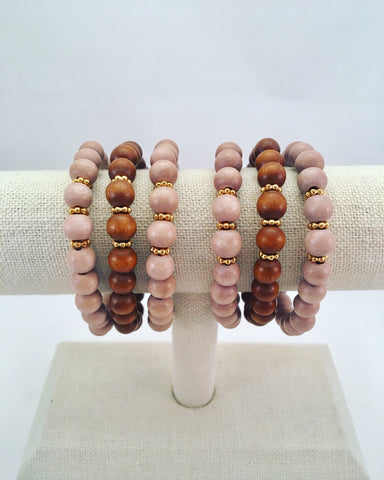 gold spacer stretch bracelet