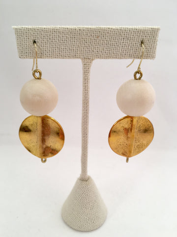 bauble and disc earrings