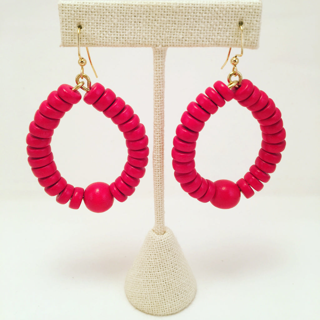 Beaded Disc Hoops