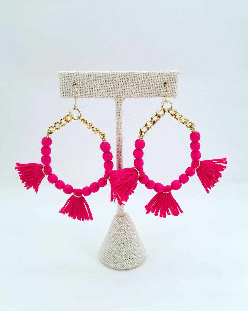 triple tassel earrings