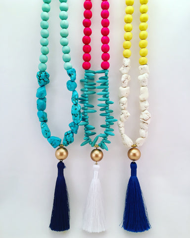 jagged tassel necklace