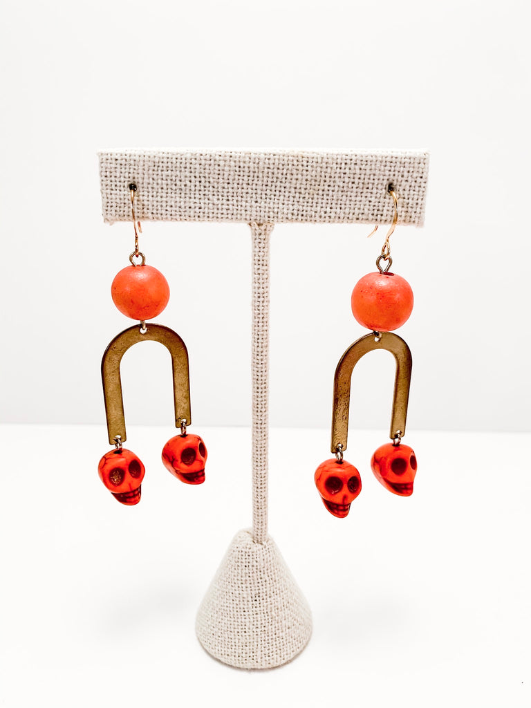 Halloween U Earrings
