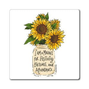 Golden Sunny Affirmations Magnets