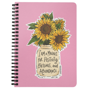 Golden Sunny Affirmations Spiralbound Notebook