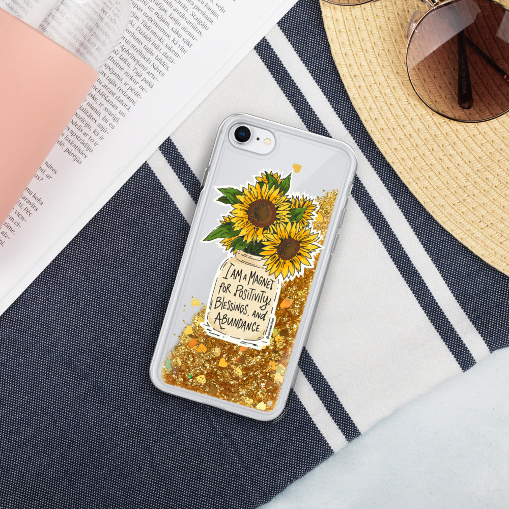 Golden Sunny Affirmations iphone Case