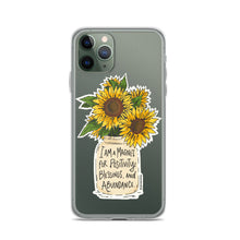 Load image into Gallery viewer, Golden Sunny Affirmations iPhone Case