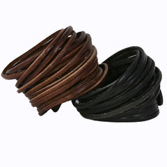 Leather Bracelets with Snap Closure