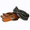 Best Seller - Leather Wrap Bracelet, Metallic Black Metal Round Studs. Snap Closure. (B005)