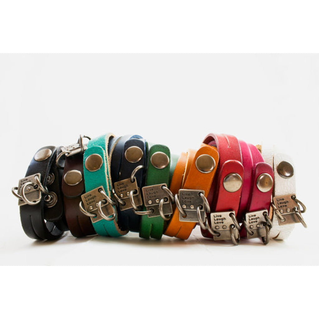 Love Wrap Bracelet Leather Engraved With The Word