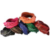 #1 Best Seller - Leather Wrap Bracelet with Strands, Braid, and Round Metal Studs. (B016-RND)