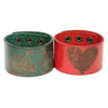 "Best-Seller Personalized Wide Leather Cuff Bracelet, Engraved with Your Custom Message, 1.5"" Wide. Snap Closure. (B050-PS)"
