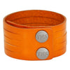 Sliced Genuine Leather Cuff, 3.5 cm wide by 5 strands (B069)