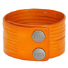 Sliced Genuine Leather Cuff, 3.5 cm wide by 10 strands (B070)