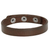 Simple Leather Band Bracelet, Snap Closure (B071)