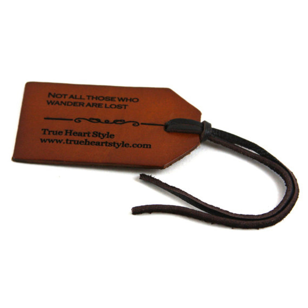 Best Seller - Engraved Leather Luggage Tag, Single Gift Tag (L001-1)