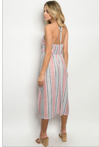 Pink Stripes Dress