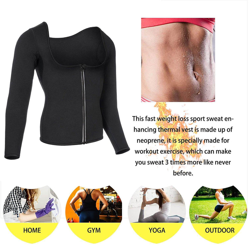 Women  Neoprene Sauna Shirt