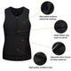 Men Sauna Zipper with Adjustable Velcro Tank Top