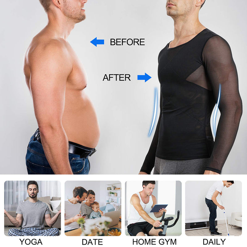 Wonderience Back Support Compression Shirts