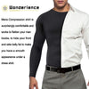 A gentleman wear wonderience men compression shirt,it make him have a smooth appearance under a dress shirt.