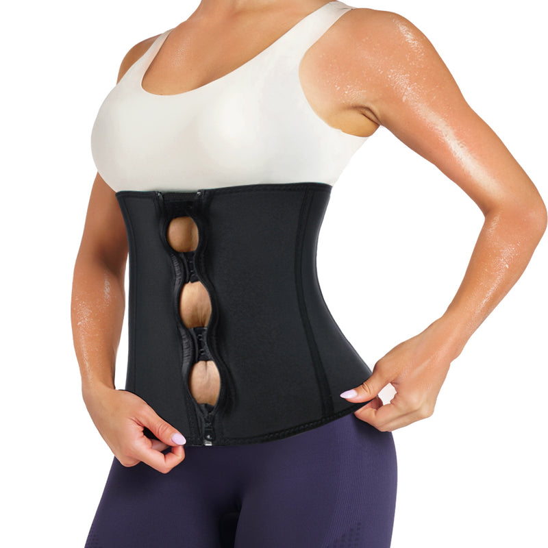 Wonderience Women Weight Loss Thermal Zipper Waist Trainer