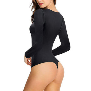 Wonderience Deep V Long Sleeve Bodysuit