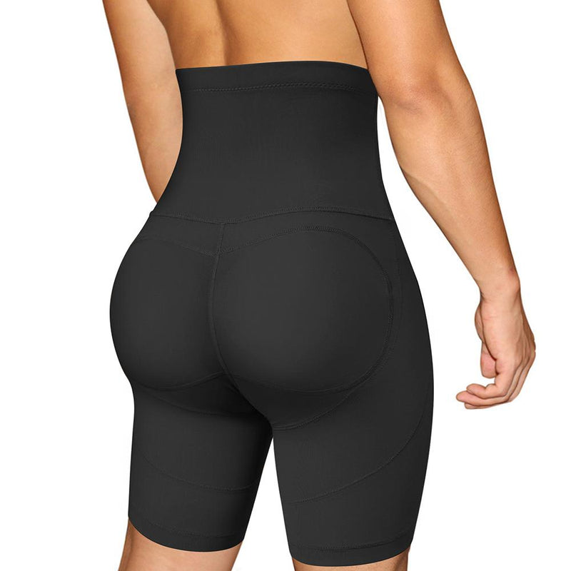 Junlan men high waisted boxer shorts with butt pad back picture showing butt enhance