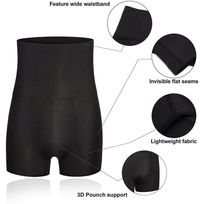 Mens Stomach Shaper Compression Shorts