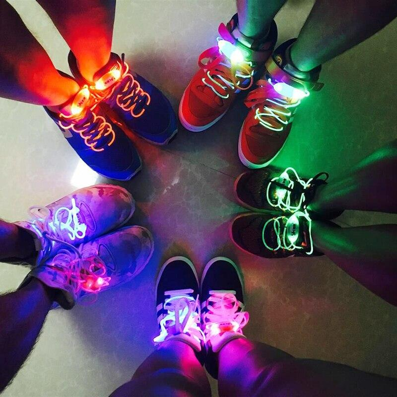 Fashion LED Luminous Shoelaces 1 Pair Flash Party Glowing Light Up Strings Athletic Sport Sneakers Flat Shoes Laces Novelty Lighting - LightUpLedShoes