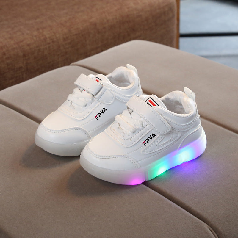 Children Sport LED Light Up Shoes Girls Boys Antislip Running Glowing Sneakers Baby Toddler Breathable Light Shoes Luminous Sneaker Infantil Trainers