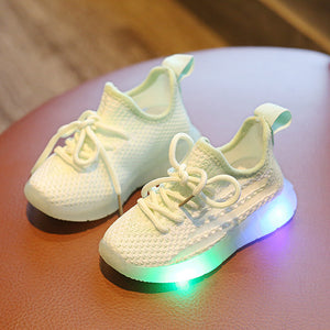 Kids Led Coconut Shoes Children 1-6 Years Net Shoes Super Fire Coconut Shoes Sports Shoes LED Light Up Shoes Flashing Trainer