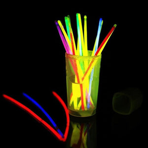 200pcs Mix Color Bright Glow Stick Luminous Toys Led Glasses Necklace Bracelets Fluorescent Festival Party Supplies Concert Decor - LightUpLedShoes