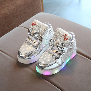 New Arrival Luminous Kids Led Sneakers Girls Glowing Bright Sneakers Flashing Lights Up Led Shoes Basket Children Lighting Shoes Breathable - LightUpLedShoes