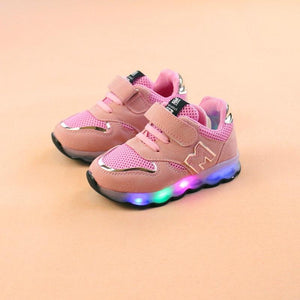 New Luminous Sneakers Light Led Shoes Basket Led Children Lighting Shoes Boys Illuminated Krasovki Tenis Infantil Glowing Girls Bright Sneakers - LightUpLedShoes