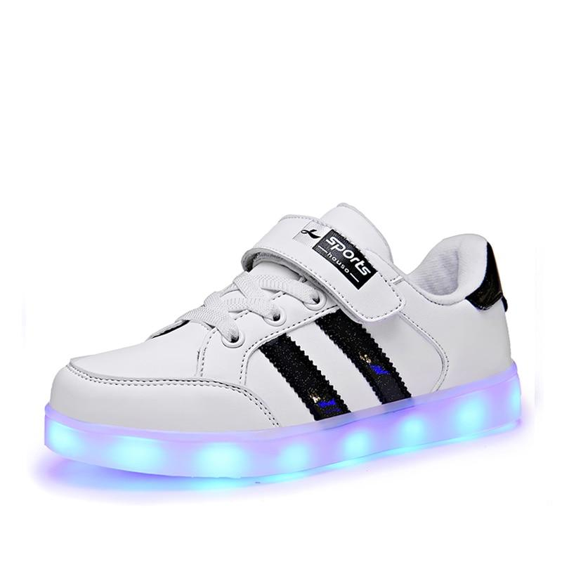 NEW Kids Led Shoes Girls Children Boys Bright Shoes  Light Up Shoes Luminous Led Sneakers Glowing Illuminated Spiderman Lighted Lighting Princess - LightUpLedShoes