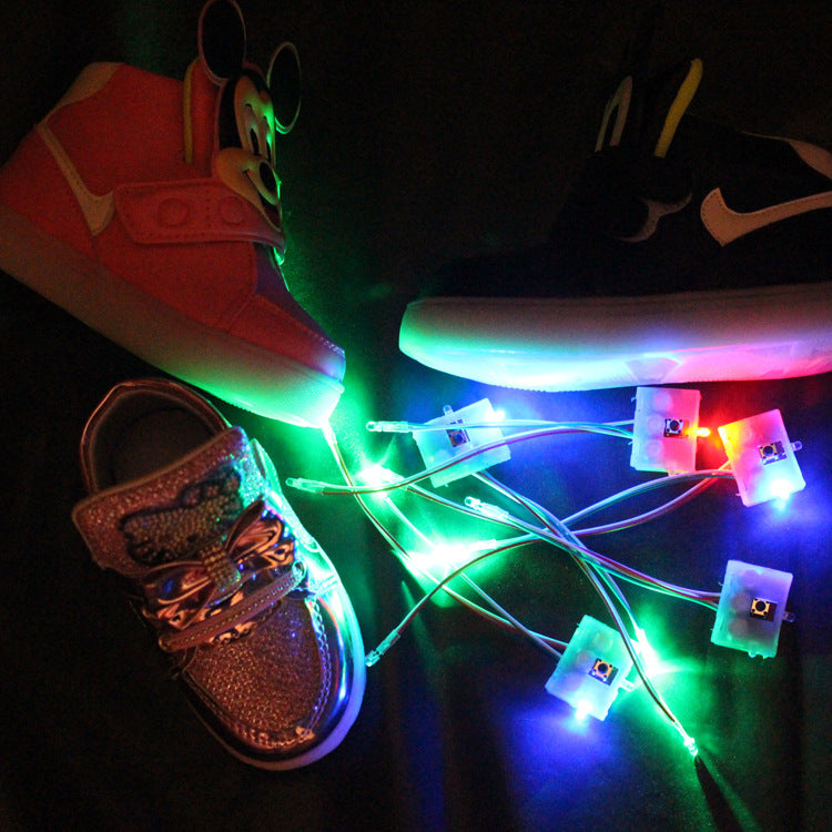 A Pair LED Shoes Lights (with battery) Waterproof Shoes Lamp Kids Shoes Decorative Lights LED Luminous Up Lights