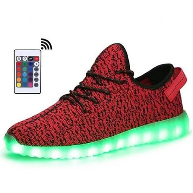 Men's LED Light Up Shoes Rubber Tissage Volant LED Casual Bright Sneakers Walking Led Bright Sneakers Light Up Shoes Breathable Booties Ankle Boots - LightUpLedShoes
