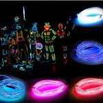 5M 3V Flexible Neon Light Bright Glow Wire Rope Tape Cable Strip LED Neon Lights Shoes Clothing Car Interior Party Decorative Led Strip - LightUpLedShoes