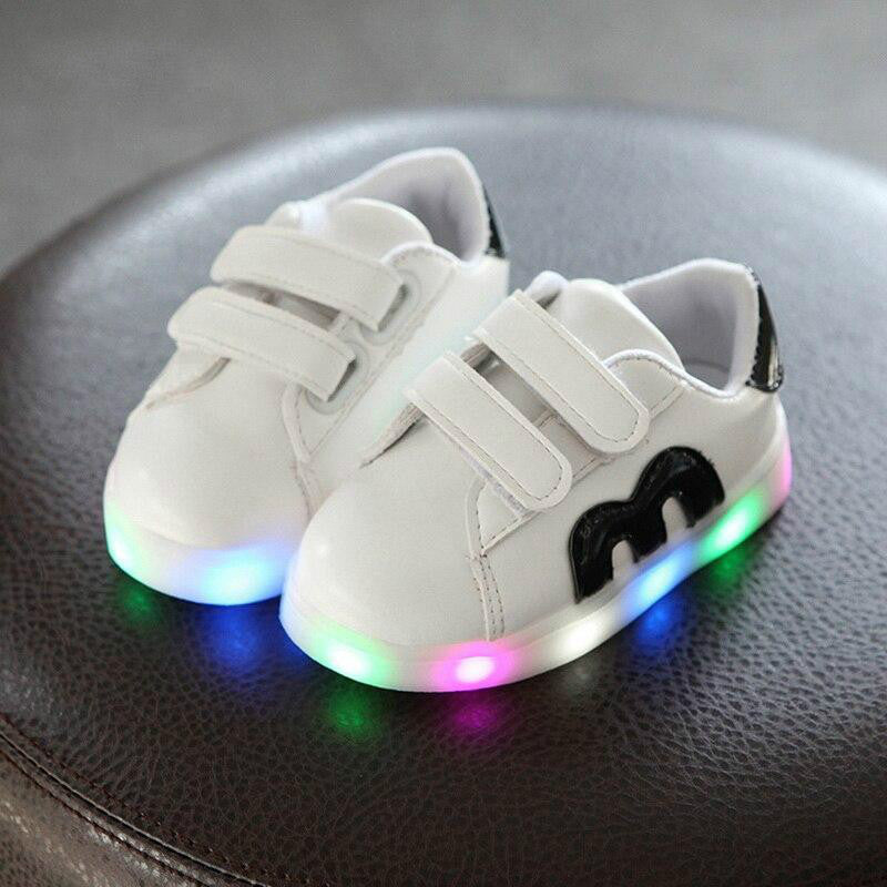 New Brand Cute Breathable Kids Light Up Led Shoes High Quality Autumn Baby Girls Boys Toddlers Fashion LED Children Bright Sneakers