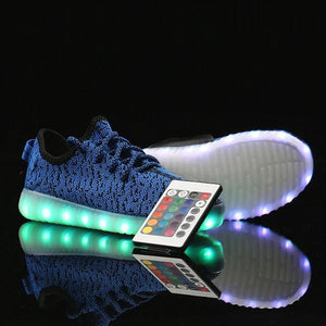 Women's LED Light Up Shoes Rubber Tissage Volant LED Casual Bright Sneakers Walking Led Bright Sneakers Light Up Shoes Breathable Booties Ankle Boots - LightUpLedShoes