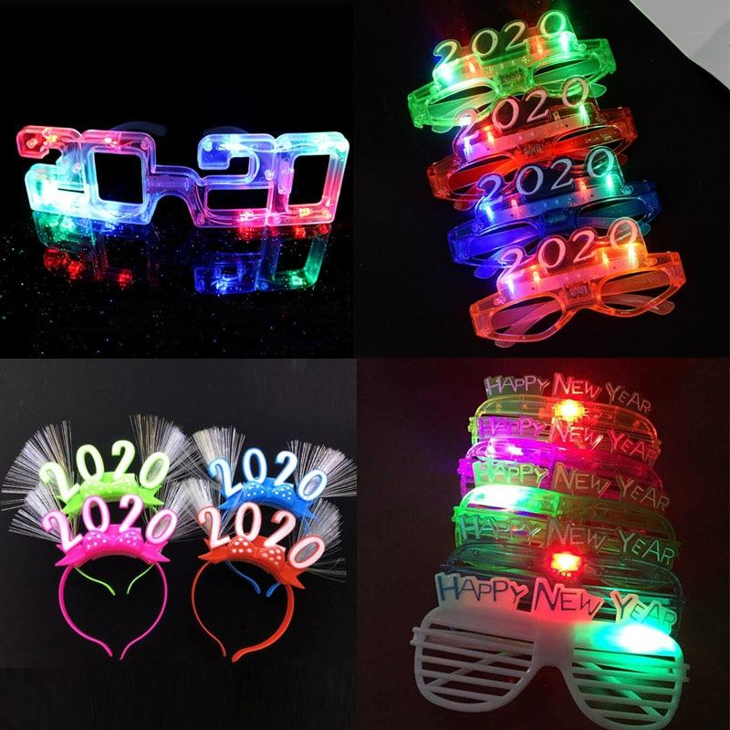 Flashing Led Light Up Glasses Luminous Light Up Gift Glowing Headband New Years LED Eve Party Supplies 2020 Christmas  Navidad - LightUpLedShoes