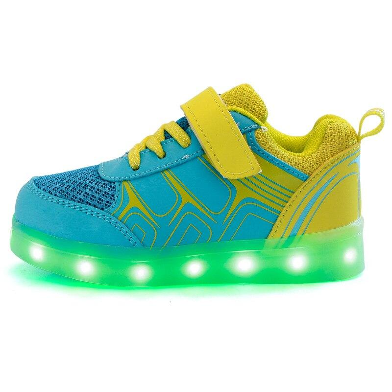 High Quality USB LED Shoes Light Glowing Luminous Sneakers with Light Sole for Kids Boys Girls Tenis LED Light Up Slippers Children - LightUpLedShoes
