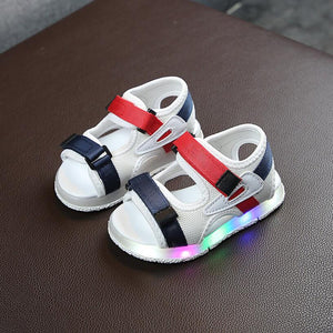 Kids Led Sandals Light Up Children Summer Light Shoes Glowing Sport Baby Glowing Sandals for Boys Girls Flashing Soft Beach Led Shoes for Toddler