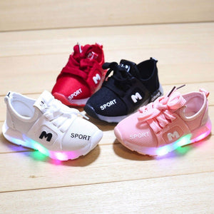Children Girls Boys Lekd Shoes Toddler Infant Kids Light Up Shoes Letter Crystal Led Light Luminous Running Sport Shoes Bright Led Sneakers 21-30 - LightUpLedShoes