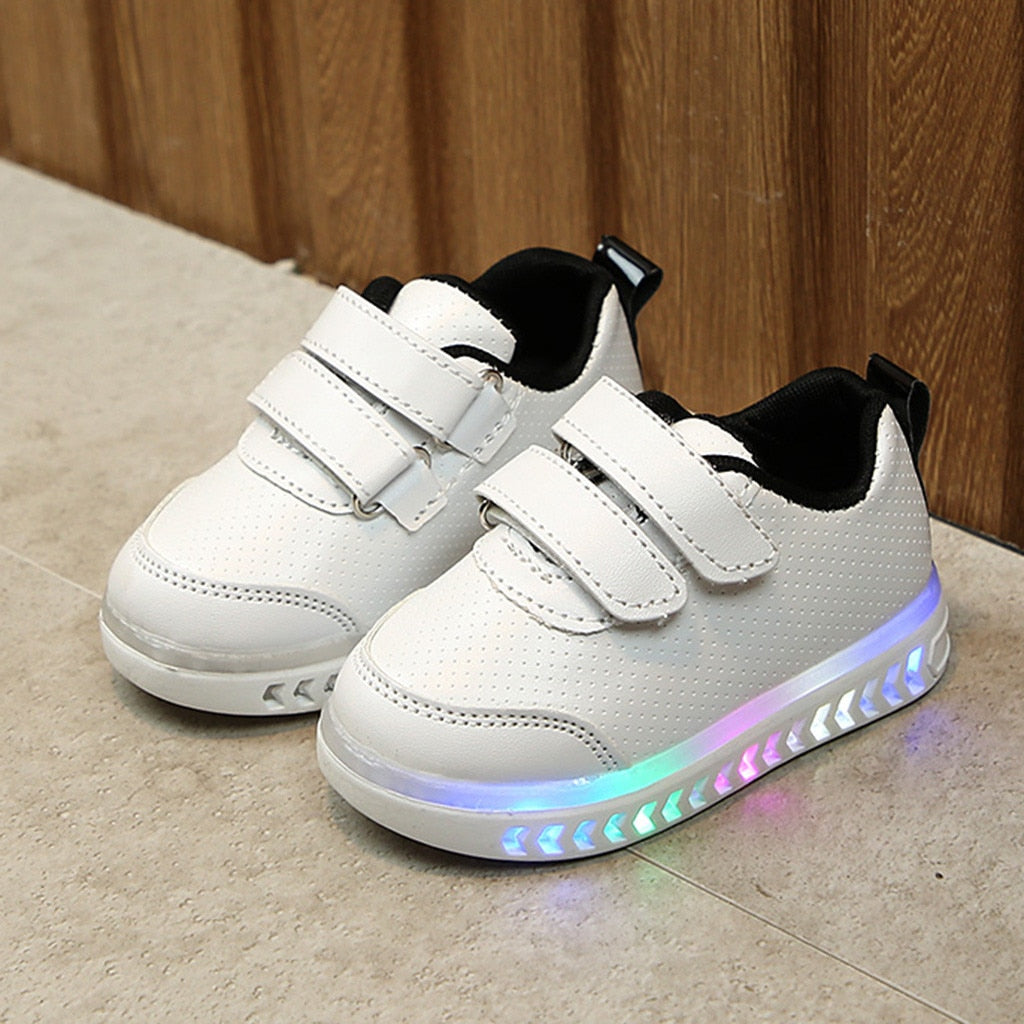 Kids LED Shoes New Children Luminous Shoes  Infant Toddler Baby Girls Boys Light LED Luminous Sport Running Shoes Kids Bright Sneakers - LightUpLedShoes