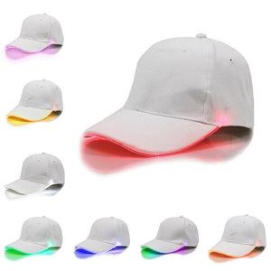 New Hot Led Hat Fishing Cap Party Led Lights Fishing Hat Solid Cap Night Fishing Hunting With Batteries Fishing Tackles Cap Multi Color - LightUpLedShoes