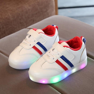 New Brand Cute Breathable Kids Light Up Led Shoes High Quality Autumn Baby Girls Boys Toddlers Fashion LED Children Bright Sneakers - LightUpLedShoes