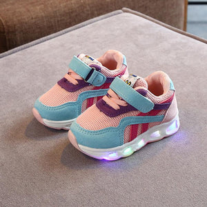 Size 21-30 Kids's Led Shoes Boys Girls Children Lighted Sneakers Glowing Shoes for Kid Sneakers Boys Baby Light Up Sneakers with Luminous Sole - LightUpLedShoes